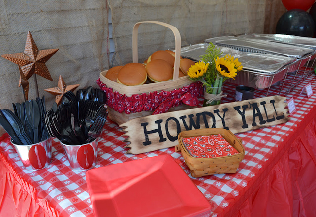 Country western cowgirl party food