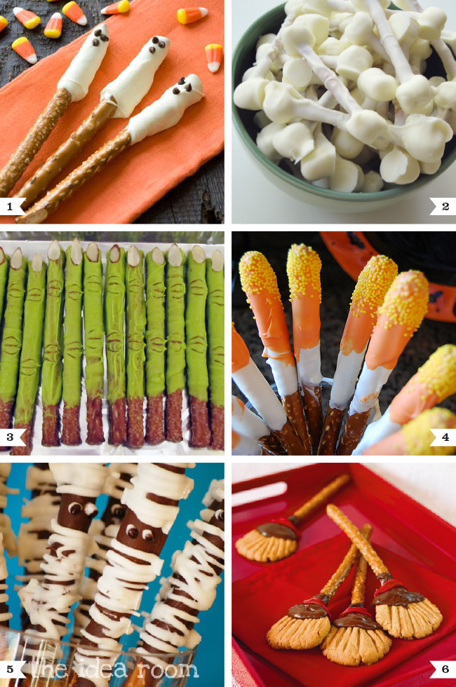 Cute and easy Halloween pretzel rod recipes