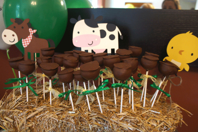 John Deere party - truffles on a stick