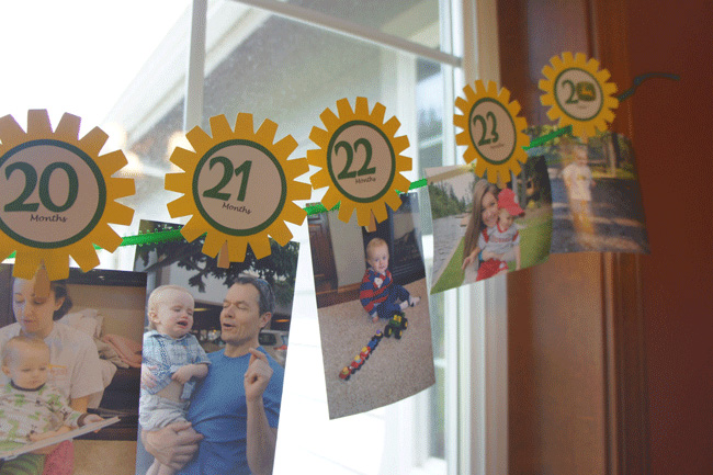 John Deere theme month-by-month photo banner