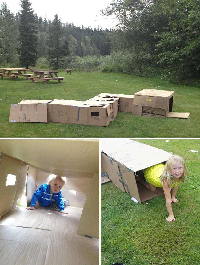 Box maze for a birthday party