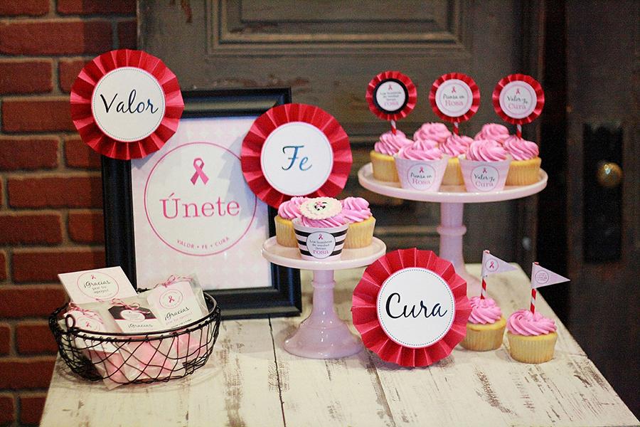 Tod@s contra el cáncer de mama - kit para imprimir - GRATIS