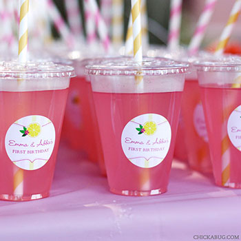 Pink lemonade! - Personalized stickers from Chickabug