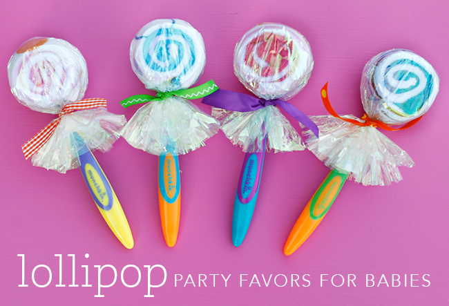 "DIY ""lollipop"" party favors for babies 
