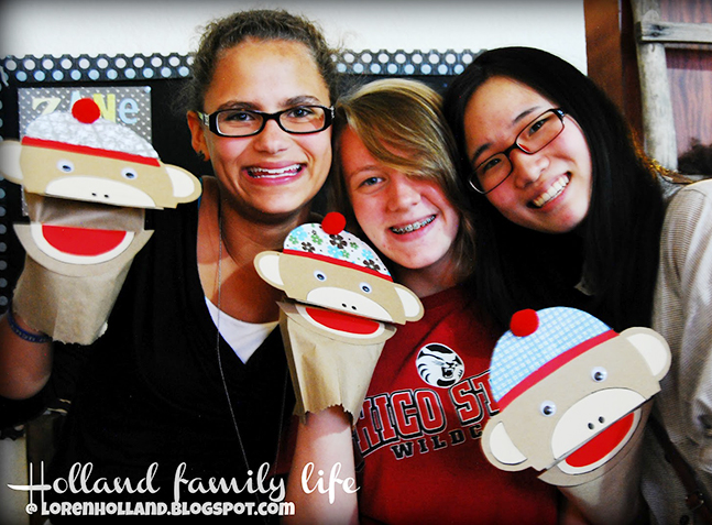 Sock monkey hand puppets (using a free printable template!)