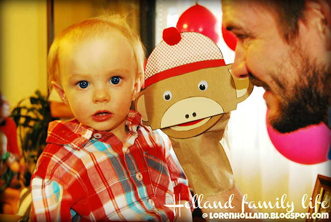 Sock monkey hand puppet (using a free printable template!)