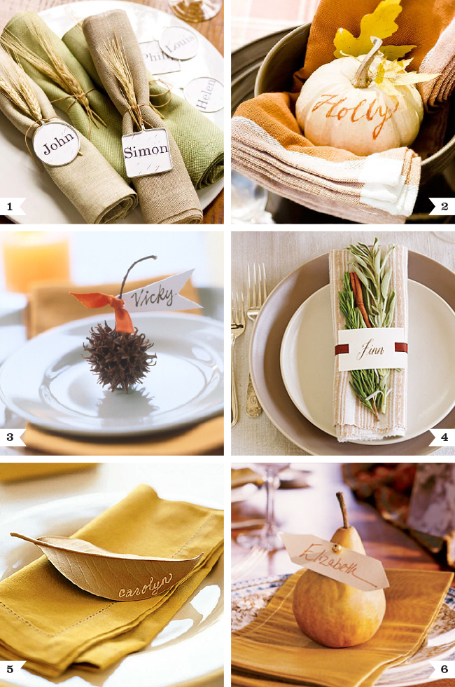 Beautiful natural place settings for thanksgiving chickabug for How to set a round table for thanksgiving