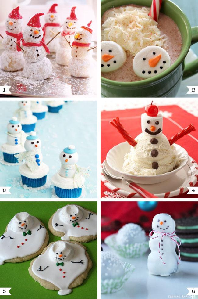 Adorable snowman treats