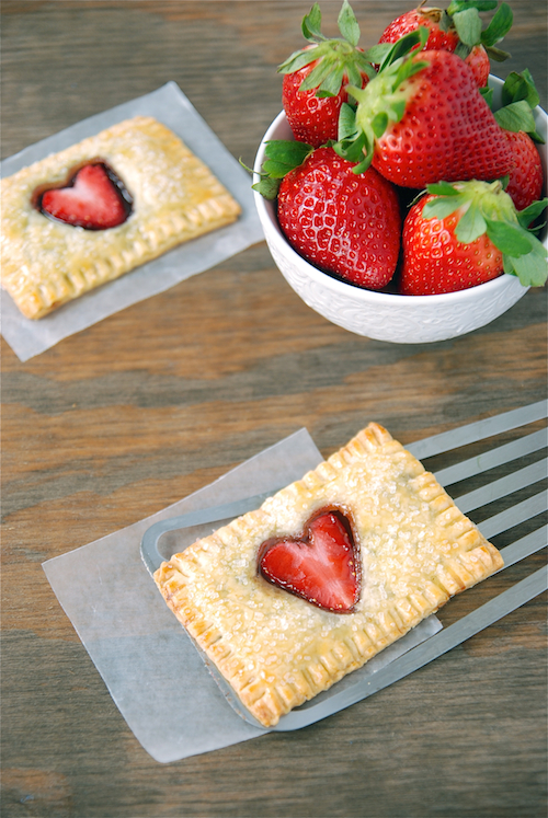 Strawberry Nutella Pop Tarts - so sweet for Valentine's Day!