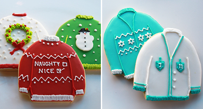 Ugly Sweater Cookies by WhippedBakeshop.etsy.com