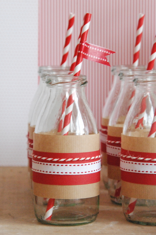 Christmas Cookie Party Milk Bottles