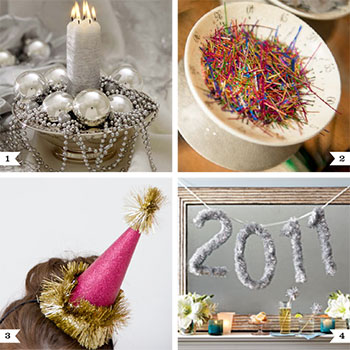 Ways to re-use your Christmas decorations at New Year's, plus an eco-friendly DIY disco ball!