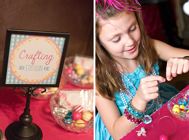 Dress-Up theme party by Double The Fun Parties - Crafting station! - Printables from Chickabug