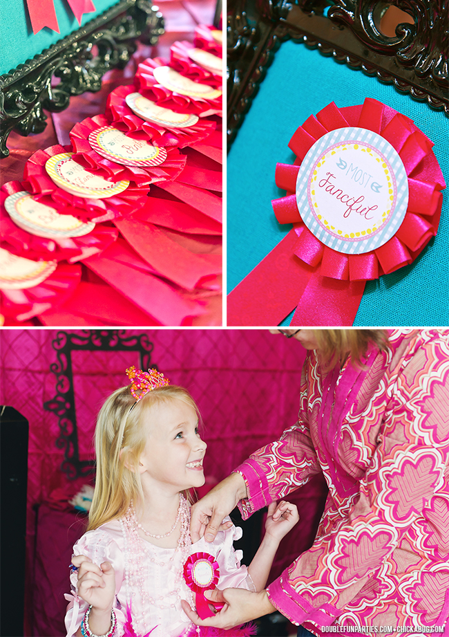 Dress-Up theme party by Double The Fun Parties - Award ribbons for the girls! - printables from Chickabug