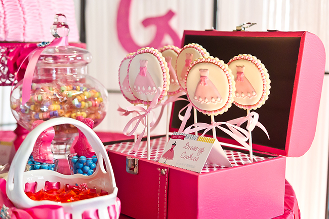Dress-Up theme party by Double The Fun Parties - cookies from Sweet Goosie Girl