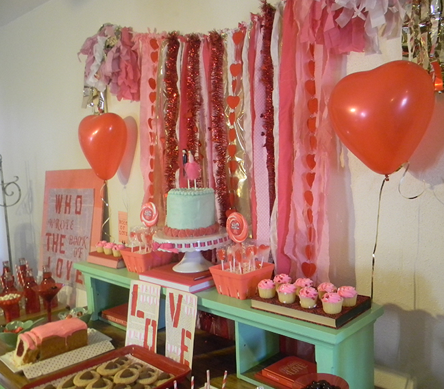 valentines day book of love party - Valentines Day Book
