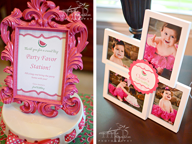Watermelon party decorations featuring Chickabug printables