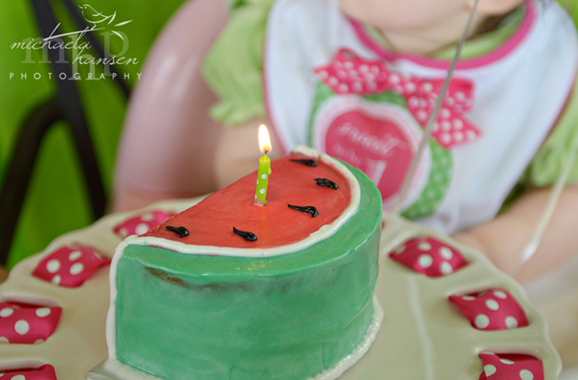 Watermelon party - adorable birthday cake!