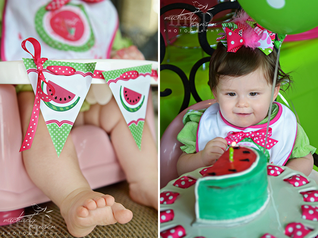 Watermelon birthday party - printables from Chickabug