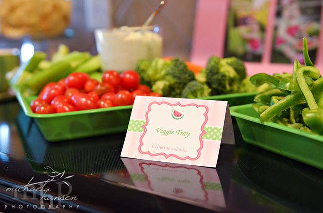 Watermelon party food - with Chickabug printables