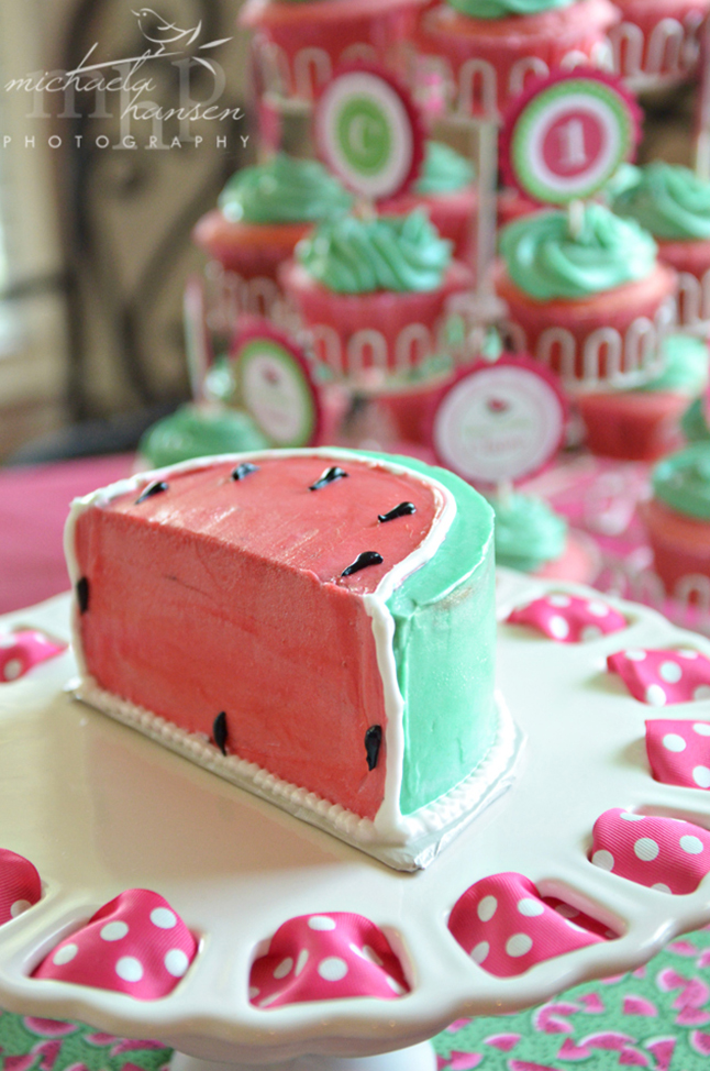 Watermelon birthday cake!