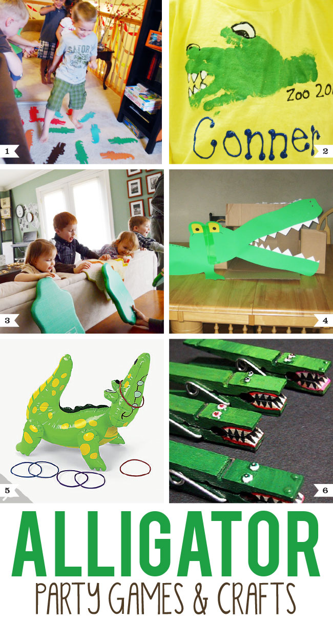 alligator party games and crafts chickabug
