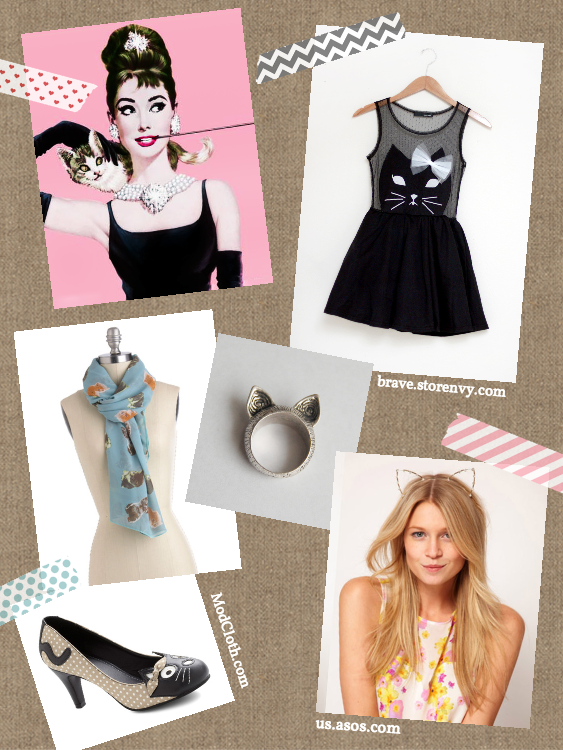 """Fashionable cat lady"" inspiration board"