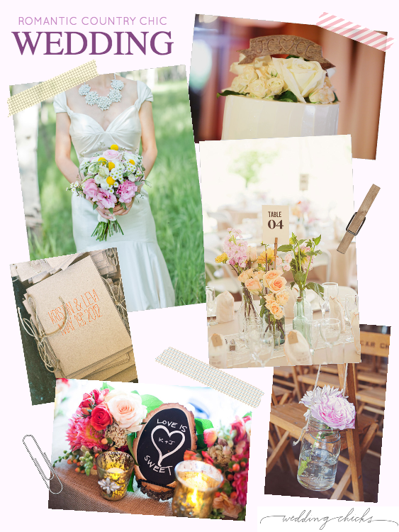 Country chic wedding inspiration board