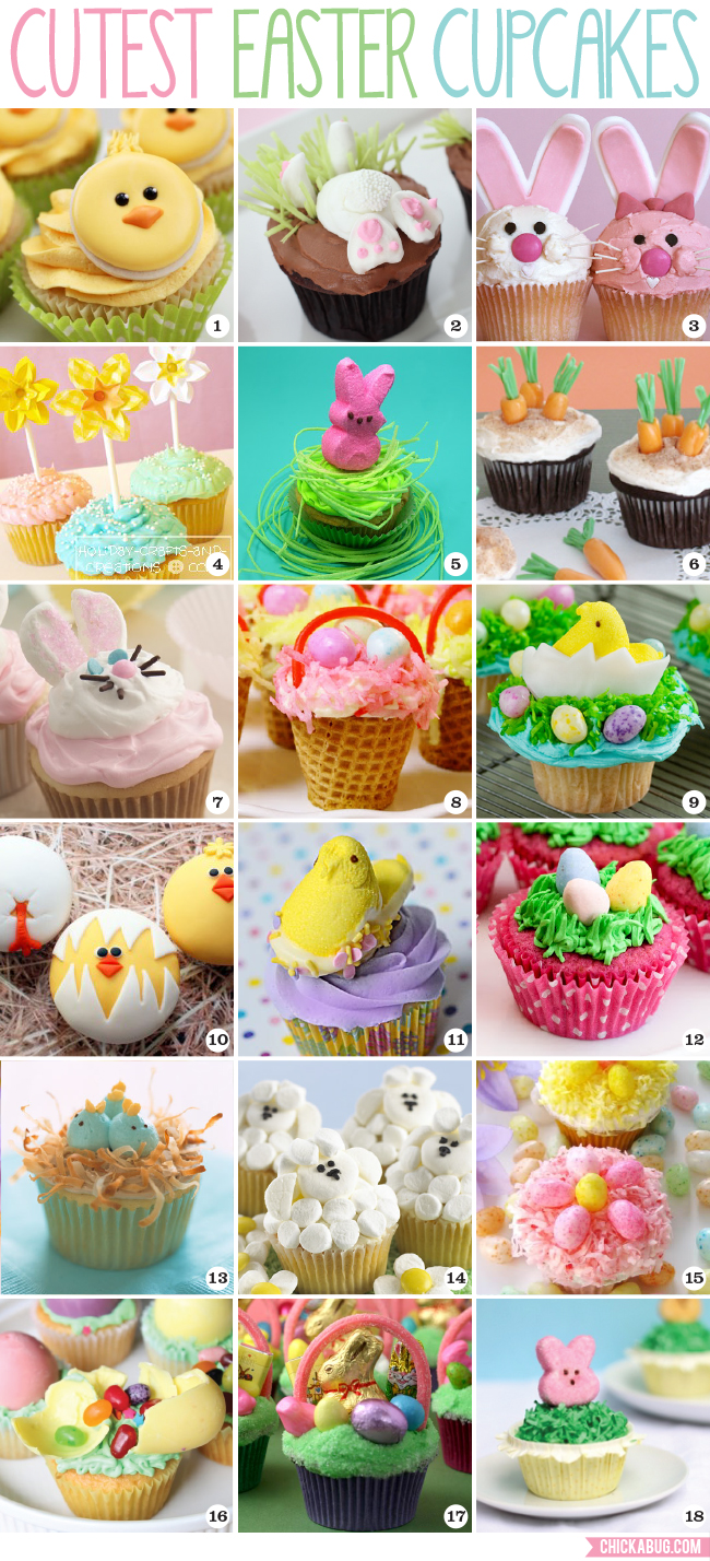 The cutest easter cupcakes chickabug for Cute cupcake decorating ideas for easter
