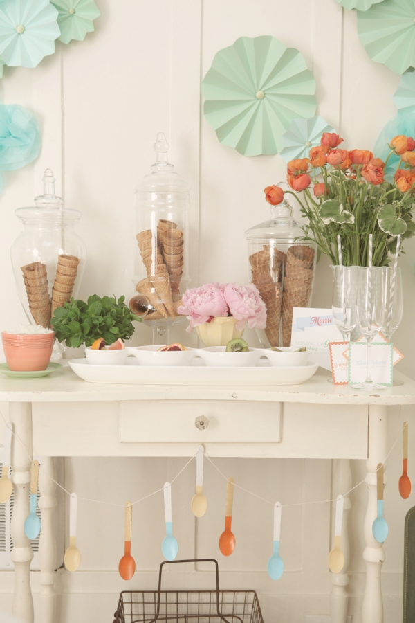 Pastel ice cream bar