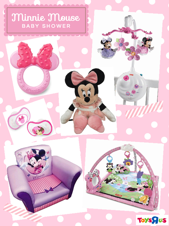 Minnie Mouse baby shower inspiration board