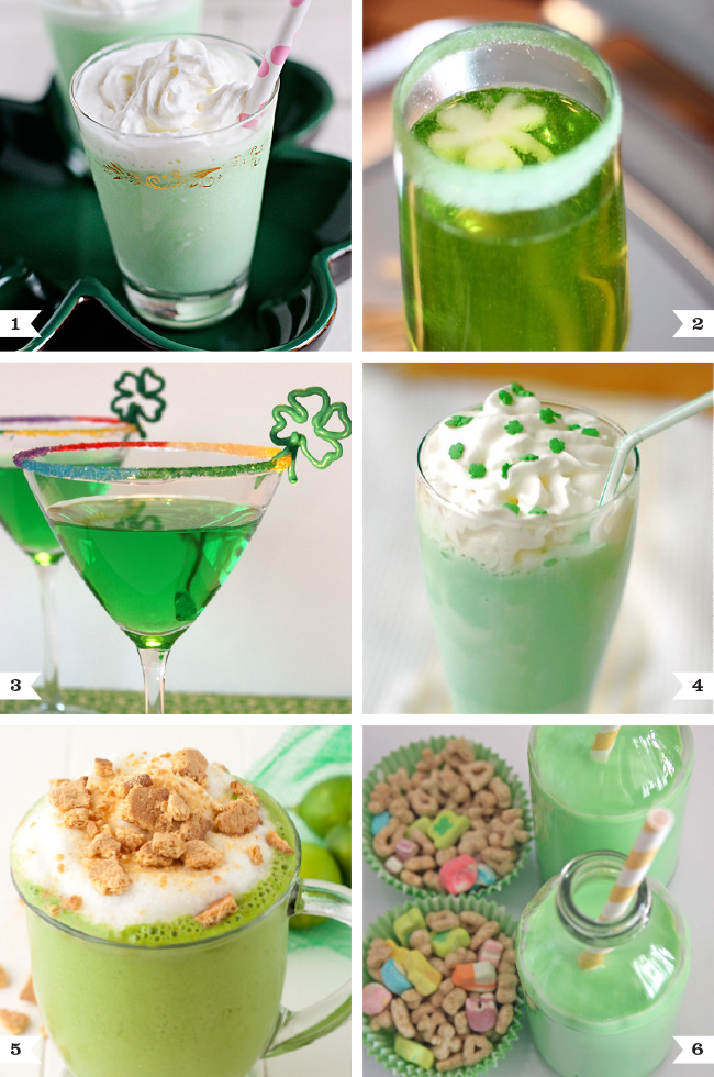 Green Drinks For St Patrick 39 S Day For Adults And Kids