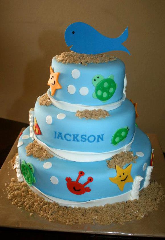 Under The Sea Birthday Cake Chickabug