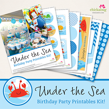 Under the Sea printables collection from Chickabug