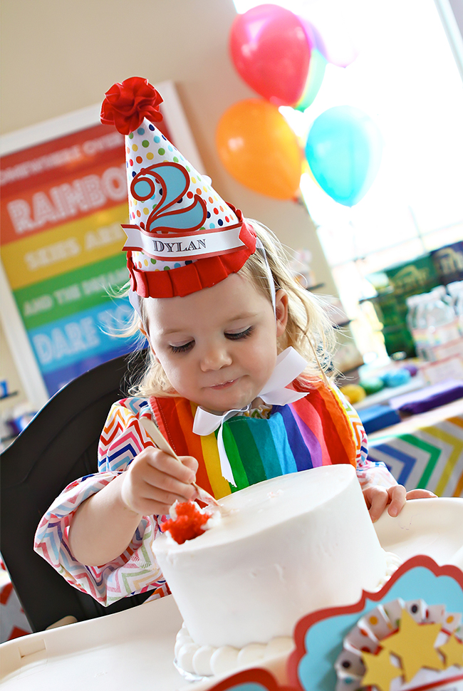 An absolutely amazing rainbow theme birthday party!