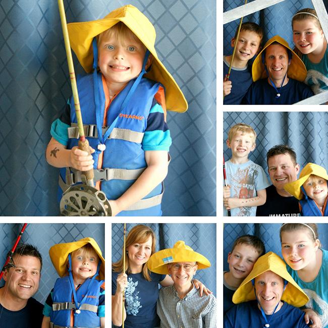 Fishing theme photo booth