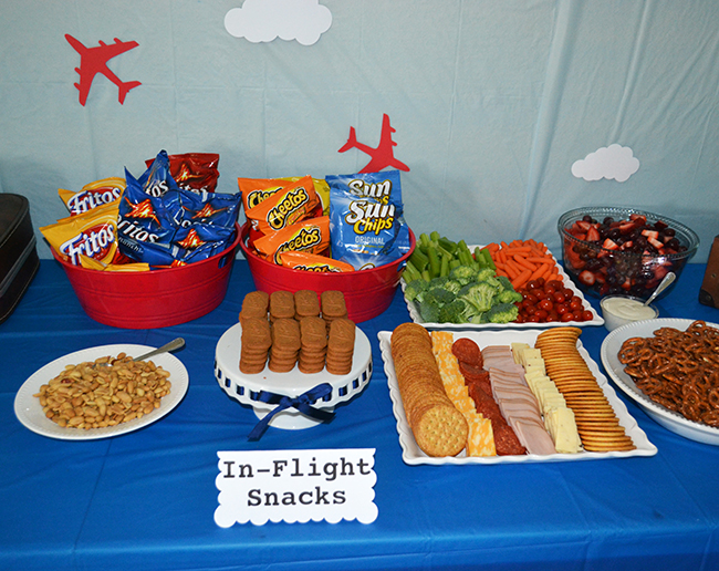Airplane party troy is 2 chickabug for Airplane party decoration ideas