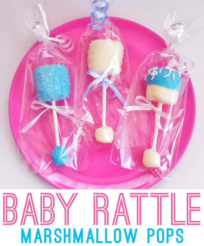 Baby rattle marshmallow pops | Chickabug