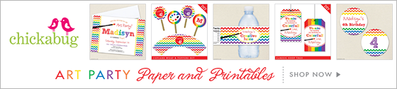 Art theme paper goods & printables from Chickabug