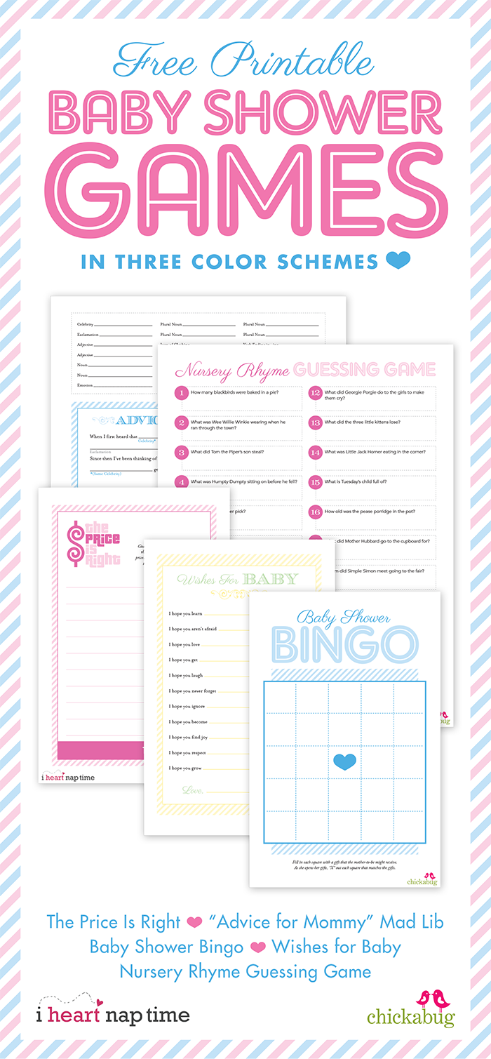It is a graphic of Resource Baby Shower Printouts