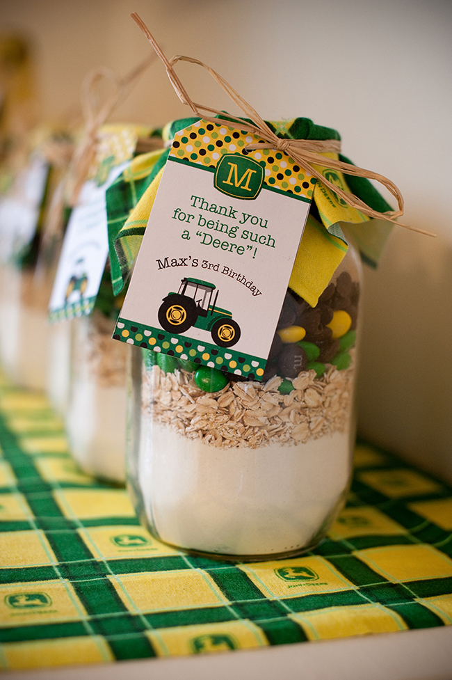 Kysa also made John Deere colored cookie-mix-in-a-jar ! Each jar is ...