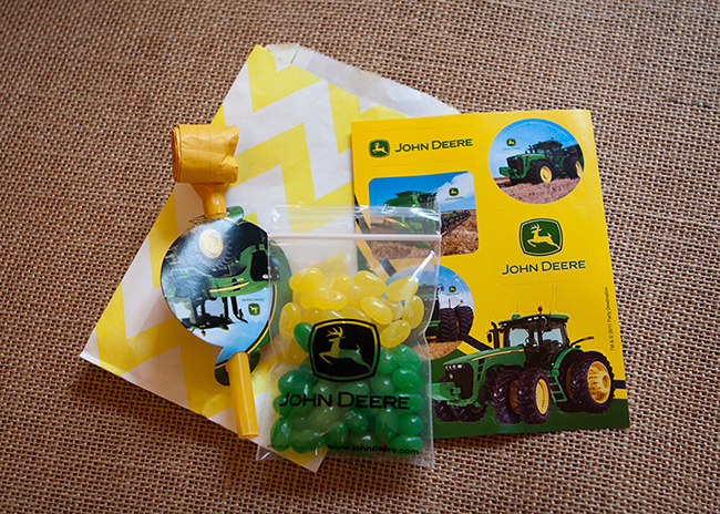 John Deere birthday party favors