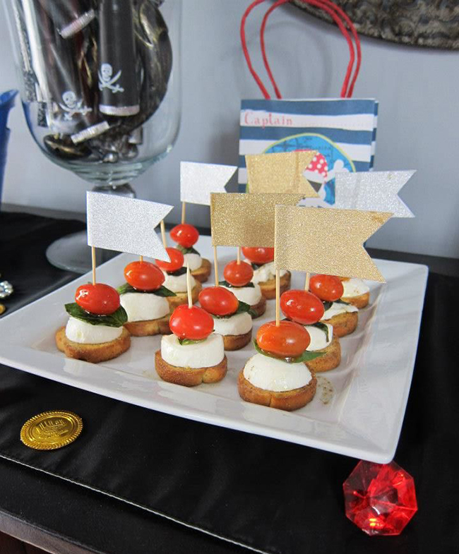 Pirate theme birthday party food