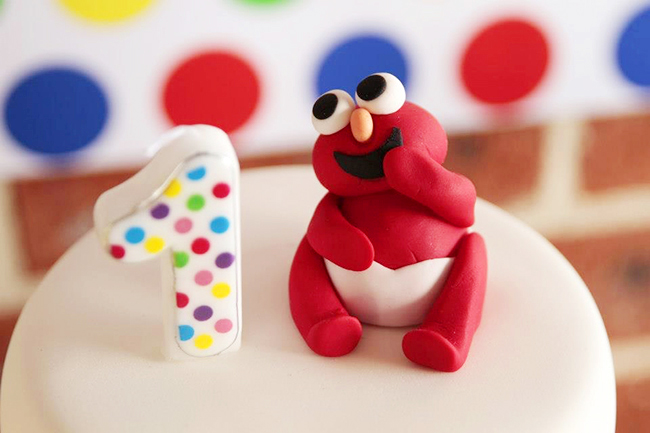 Baby Elmo birthday cake topper - so cute!