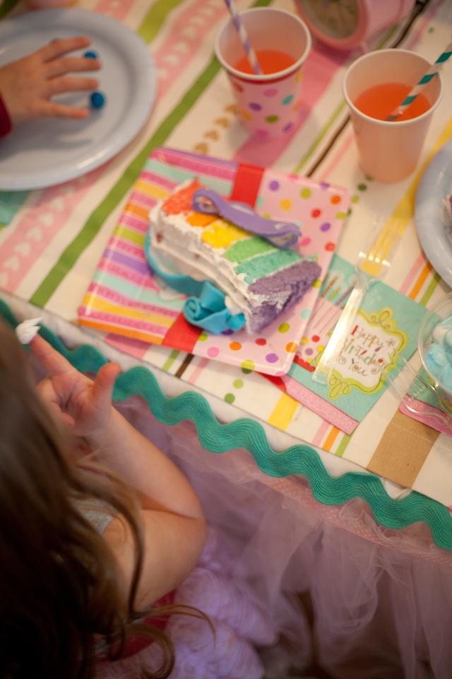 Gorgeous pastel rainbow birthday party!