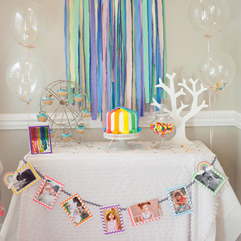 Gorgeous pastel rainbow party!