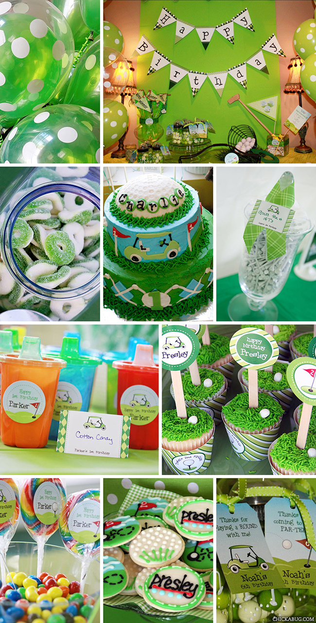 Golf party printables collection from Chickabug - over 45 pages of printables to create a fantastic PAR-TEE! : )