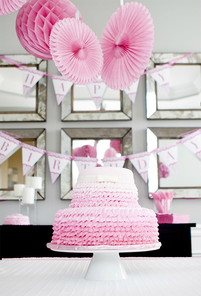 "Gorgeous ""Pretty in Pink"" first birthday party!"