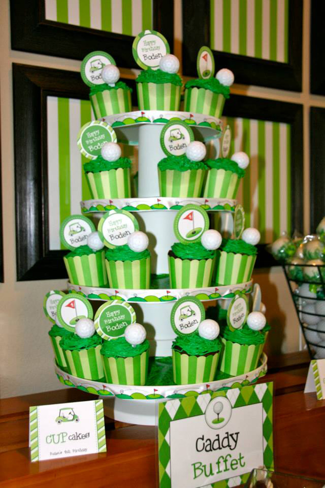 Golf theme birthday party with printables from Chickabug