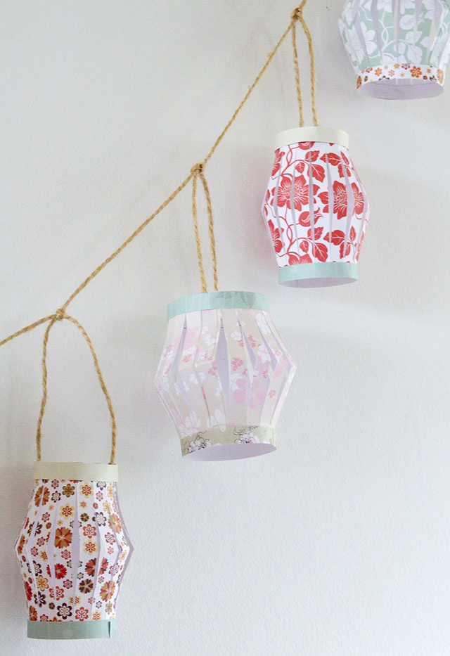 How to make paper lanterns | Chickabug